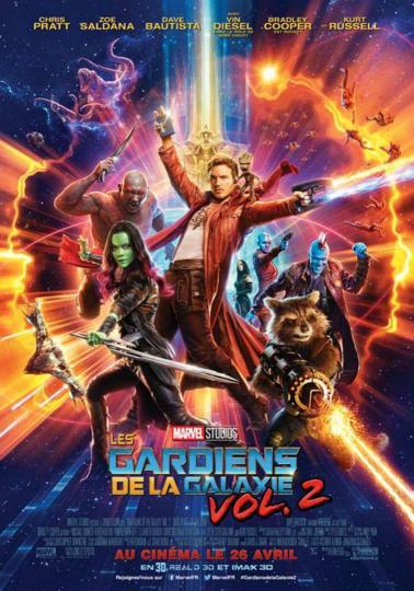 affiche Les Gardiens de la Galaxie 2