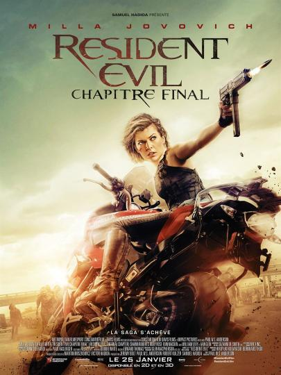affiche Résident Evil - Chapitre Final (- 12 ans)