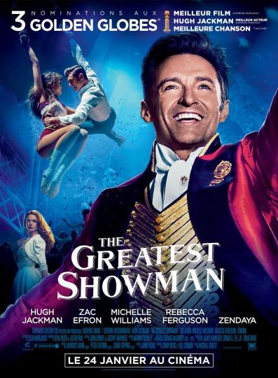 affiche Ciné Région The Greatest Showman