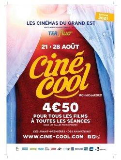 affiche 24e Édition de Ciné Cool du 21 au 28 août 2021